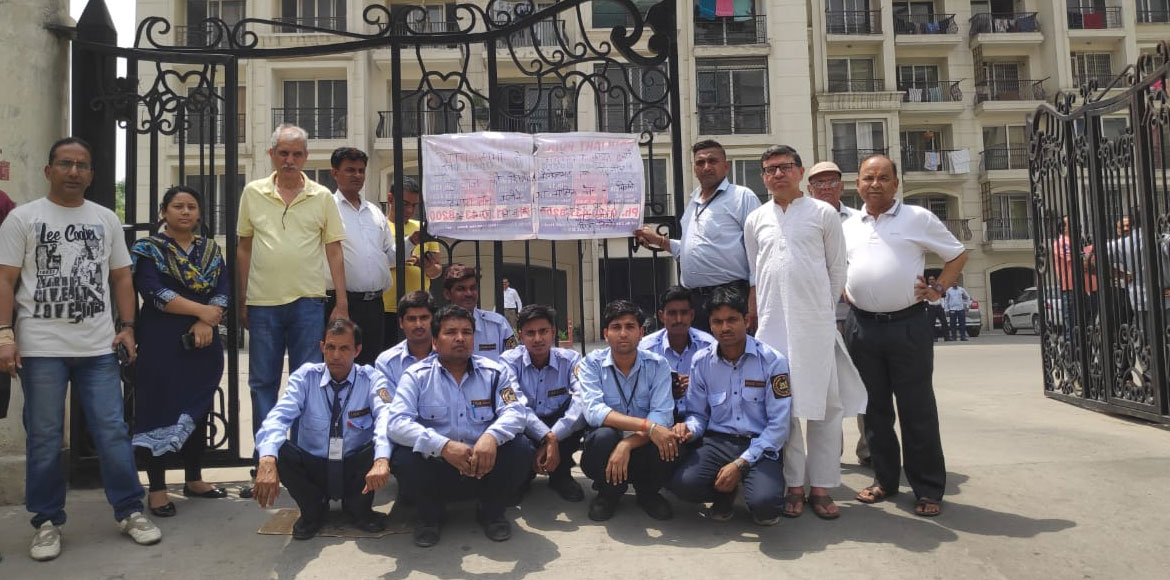Salary delay issue: Shipra Neo guards stage protes