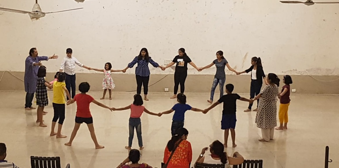 Theater workshop for kids held at Rishabh Cloud 9, Indirapuram