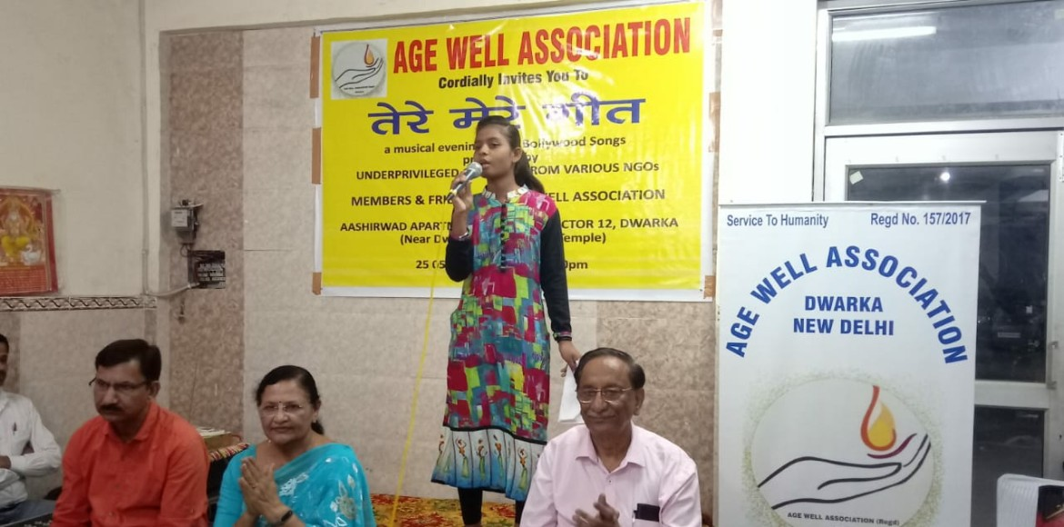 Underprivileged kids attend music event at Ashirvad Apartments in Dwarka