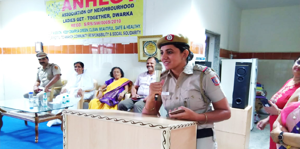 Community event promoting Delhi Police's women safety Himmat app held in Dwarka