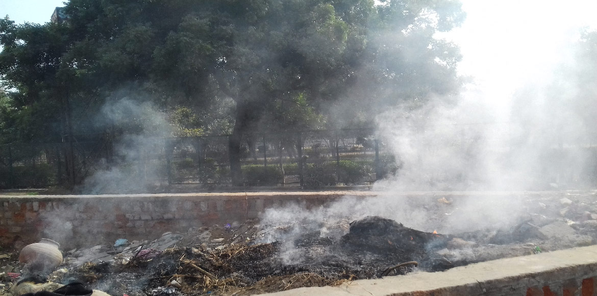 Dwarka: Burning of leaves, garbage continues unabated