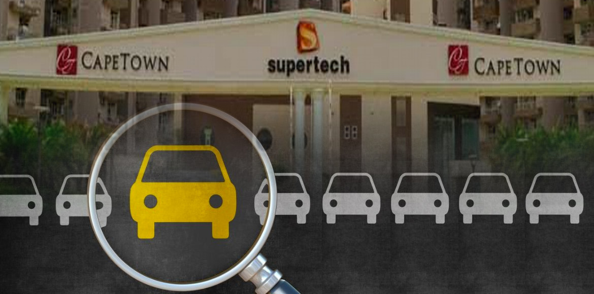 Noida Authority officials reinspect 'illegal' parking lots in Supertech Capetown