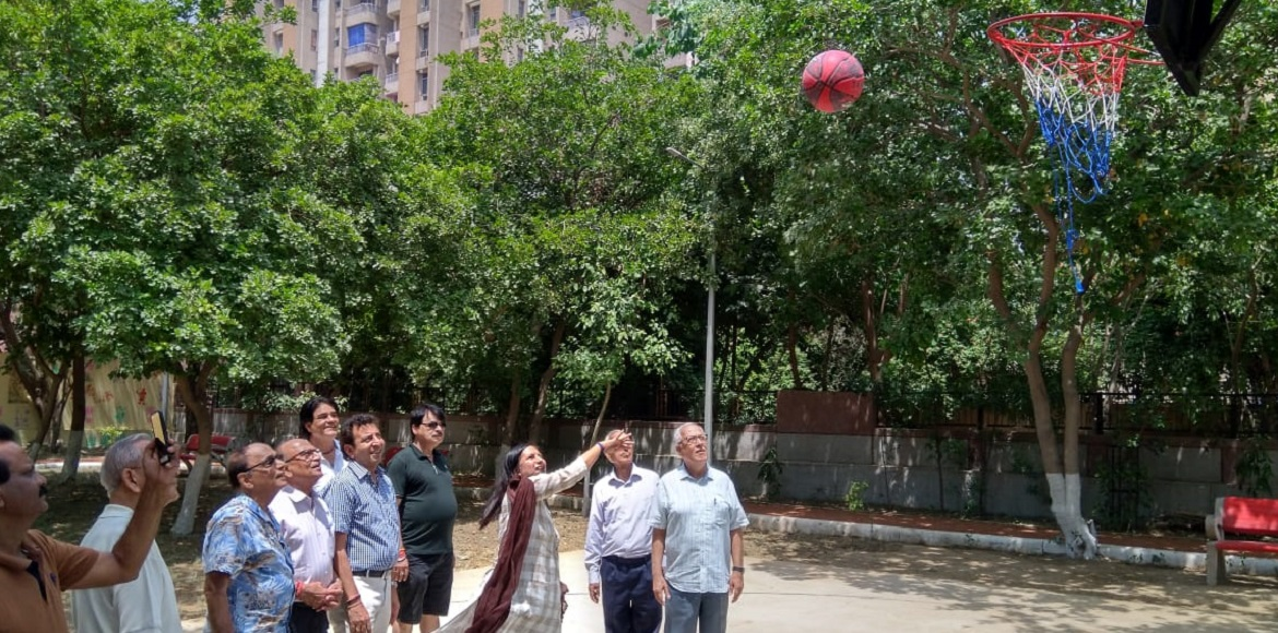 Basketball, Badminton courts inaugurated at Dwarka