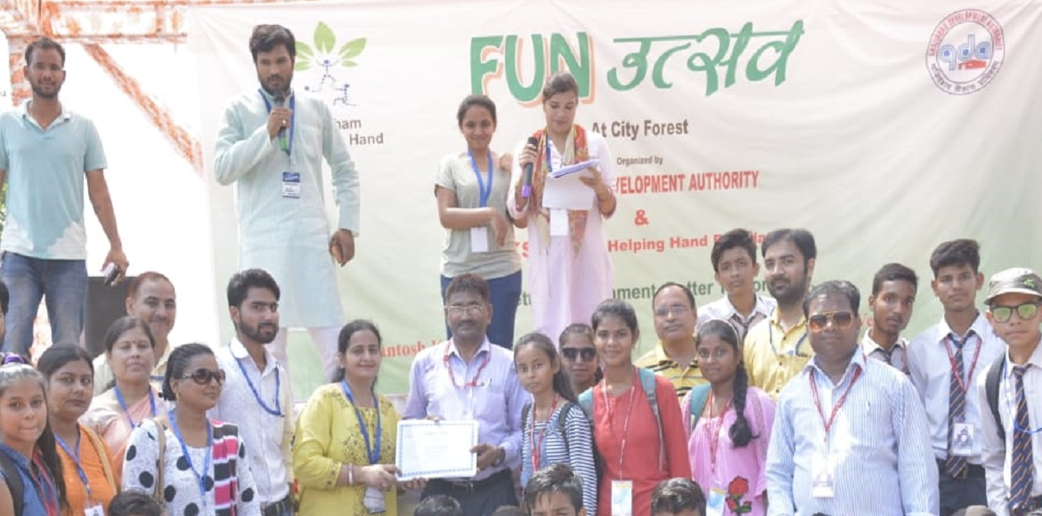 Raj Nagar Extn: Drawing competition held to sensitize children on environment