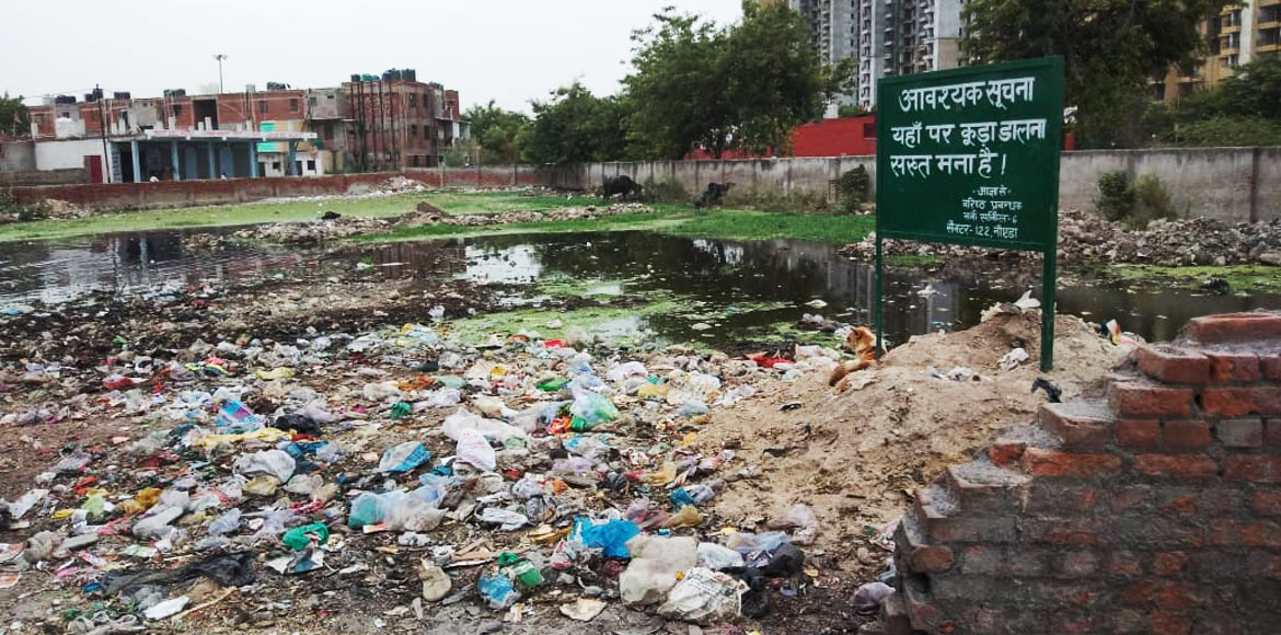 Noida: Piles of garbage make life difficult for residents at Sec 119
