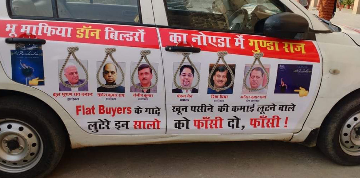 Noida: Angry buyers demand hanging of developers f