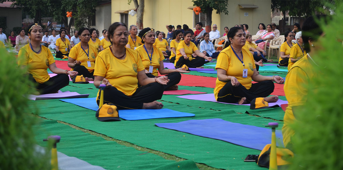 Surya Namaskar, street play mark Yoga Day in Noida