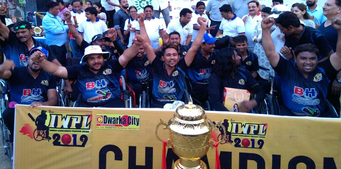PHOTO KATHA: Gujarat win Wheelchair Premier Cricket League at Dwarka