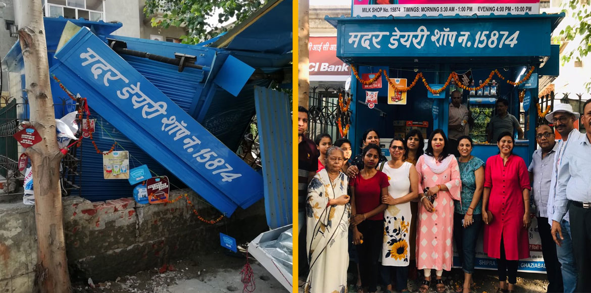 Shipra Sun City: Day after its inaugural, milk booth demolished by GDA