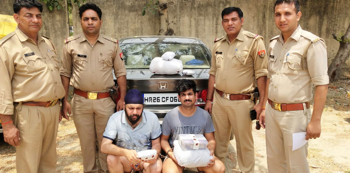Noida: Two persons arrested for smuggling marijuan
