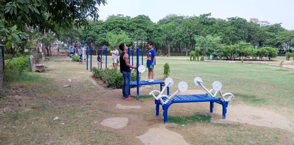 Working out gets easy with proliferation of open gyms at Dwarka