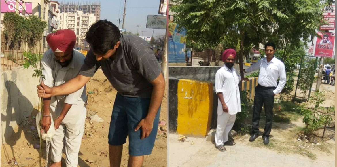 One tree a day – Raj Nagar Extn man'