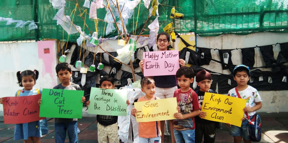 Noida: Preschool kids highlight ill-effects of plastic ahead of Environment Day