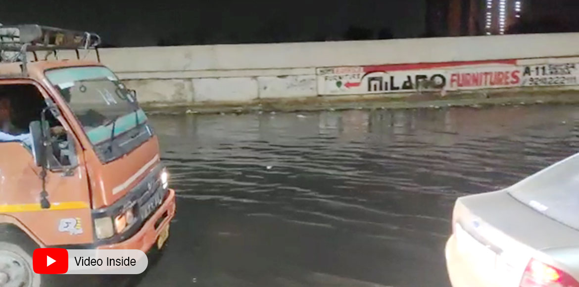 Sewage water floods Mohan Nagar Link Road; creates