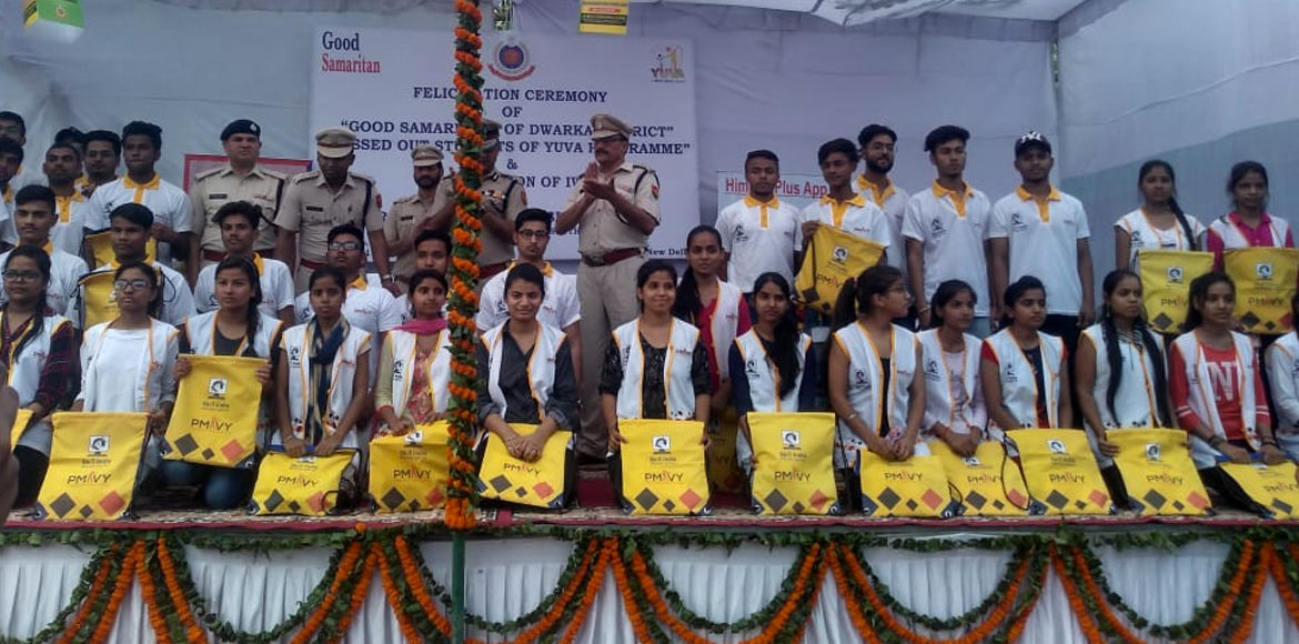 Youths in Dwarka felicitated for contributing towa