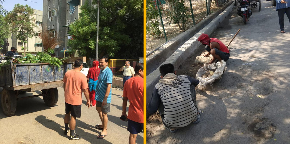 Gzb: AOA of Shipra Sun City Phase 1 conducts cleanliness drive. SEE PICS