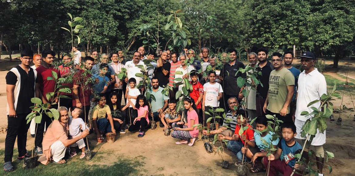 Plantation drive organised in sector 23A, Gurugram