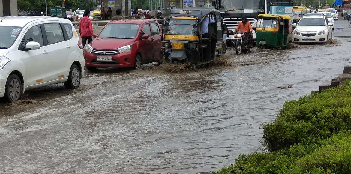 Waterlogging caused by rains throws life out of ge