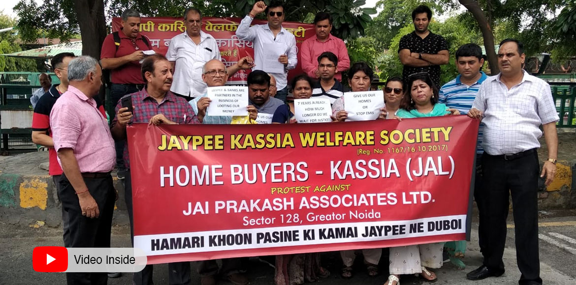Jaypee Greens Sports City homebuyers stage protest