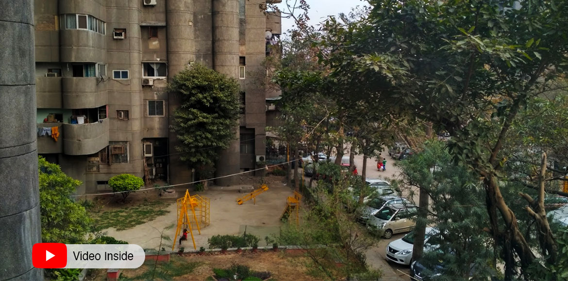 Complaint filed against concretisation of trees in Kaushambi's Kanchenjunga Apt