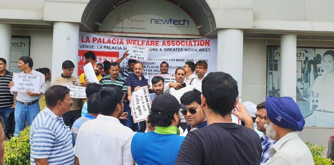 Newtech La Palacia flatbuyers stage protest against builder in GreNo