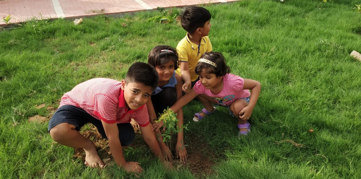 Gurugram: NBCC Green View residents plant saplings