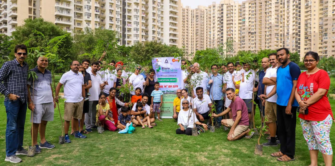 Noida: Many high rise residents plant saplings citing enormous benefits