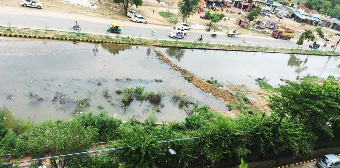 Overflowing drain, sewer water become an eyesore for Gurugram residents