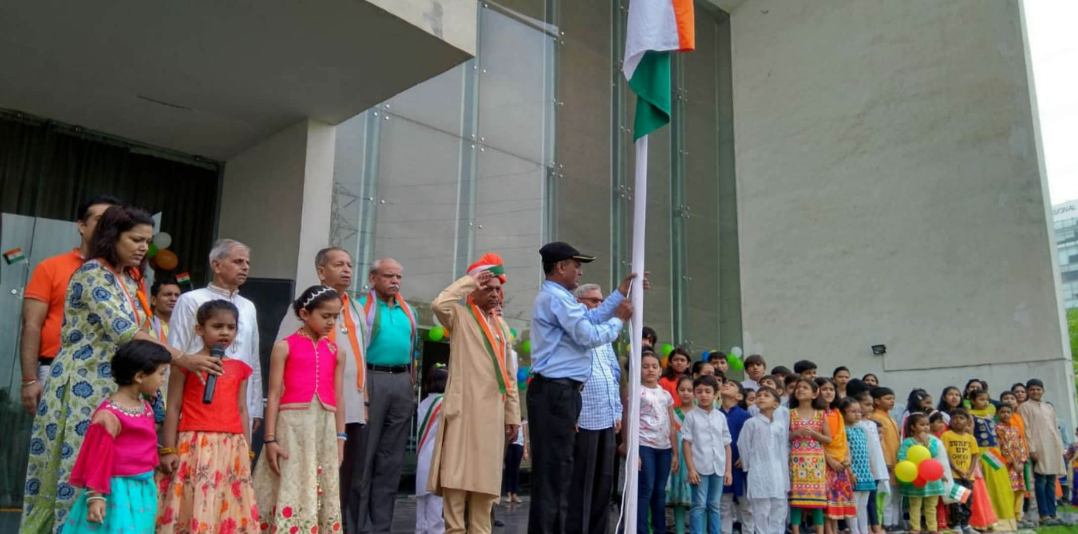 Vatika City residents hoisted the Tricolour on Independence Day in their society
