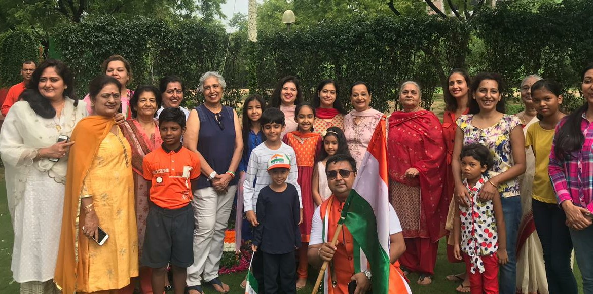 Gurugram residents celebrated Independence Day by