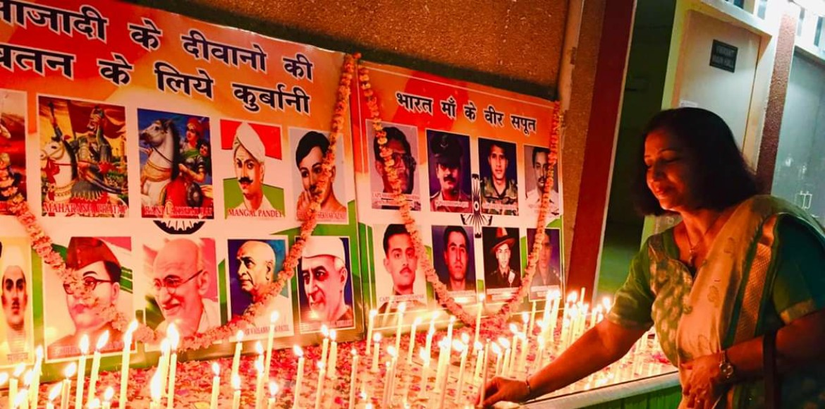 Noida: Jalvayu Vihar residents paid tribute to martyrs on Independence Day