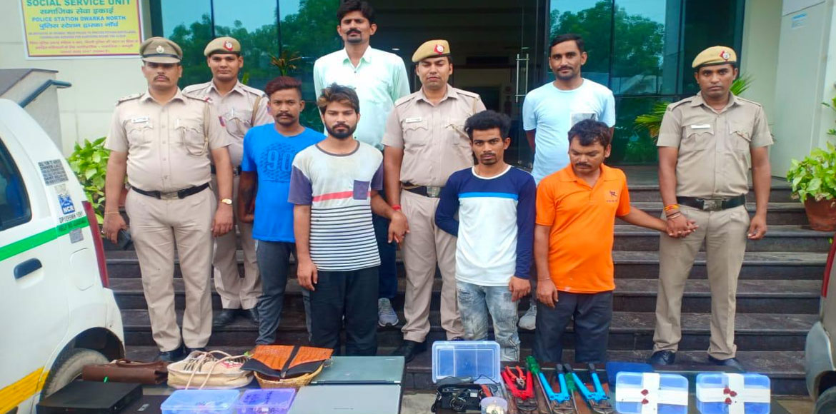 Dwarka Police busted gang of burglars