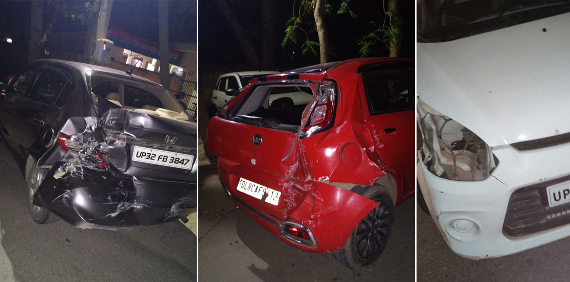 Indirapuram: Stoned, drunk school bus driver hit 5 vehicles within seconds