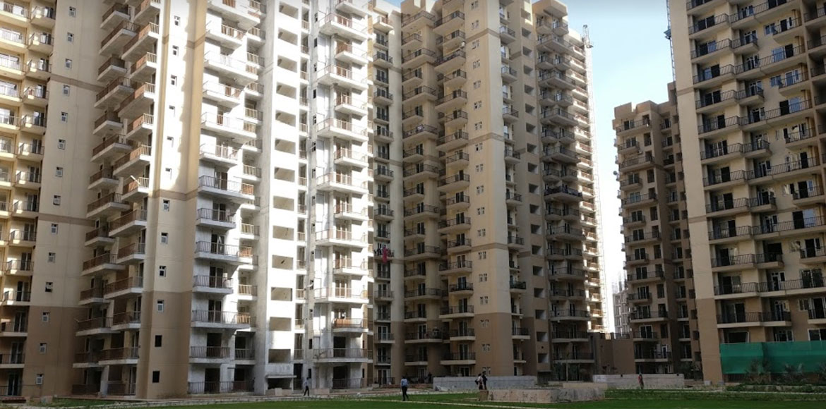 Two women of La Residentia in Greater Noida get st