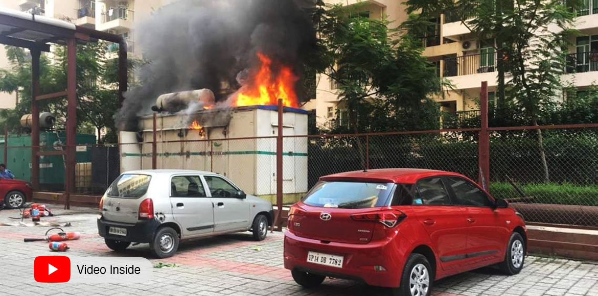 GreNo: Diesel Generator catches fire in Palm Olympia society