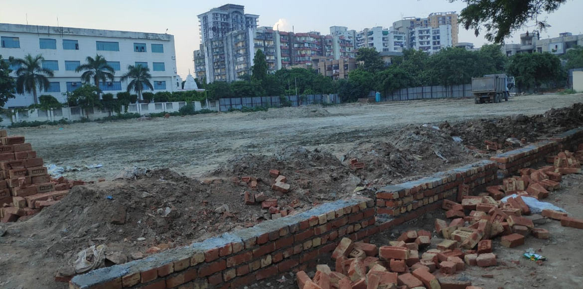 Caved-in land near Vartalok society to be converted into commercial complex