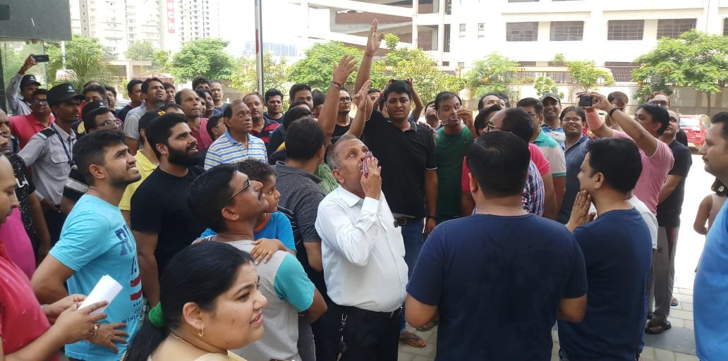 GreNo: Nirala Greenshire residents stage protest against developer