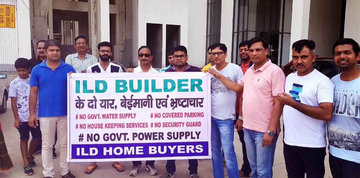 Gurugram: ILD Greens residents protest against builder
