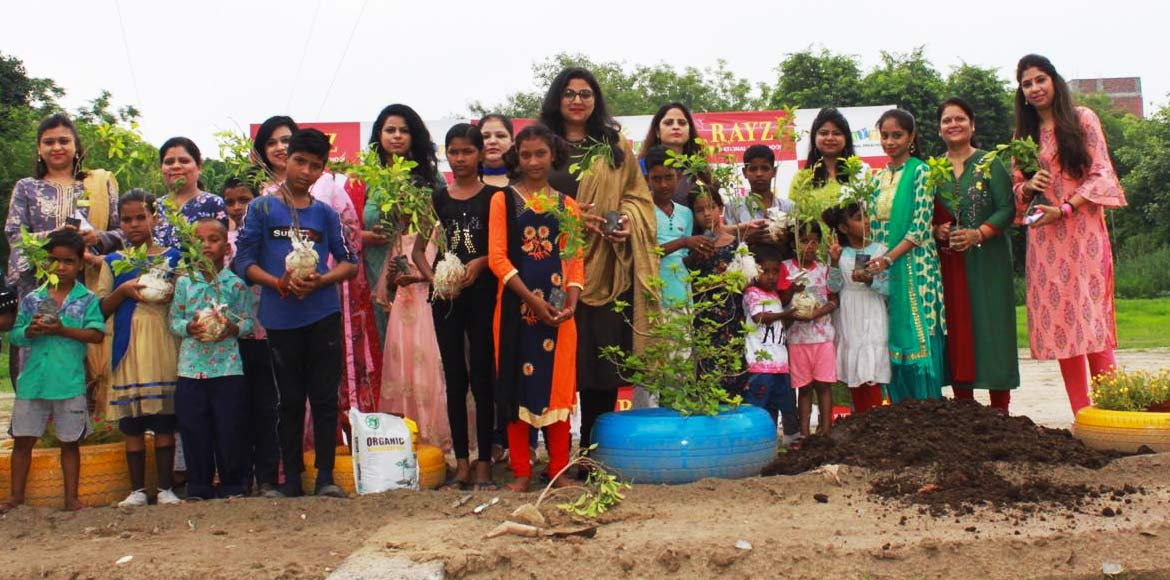 Preschool kids carry out plantation drive for gree