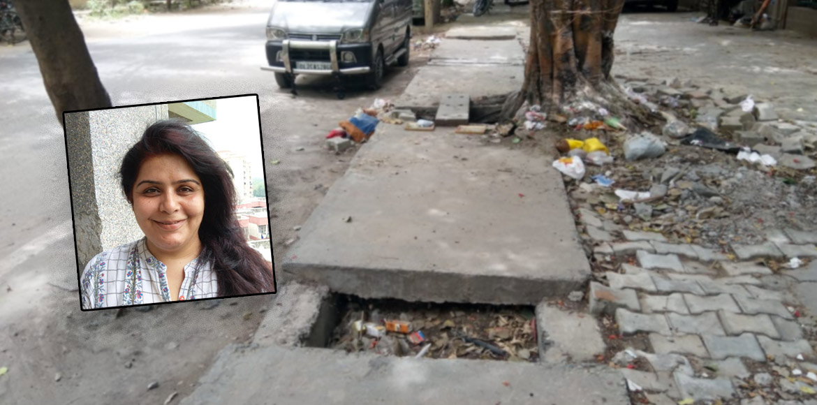 Resident Speak: Damaged footpaths reason of concern for Dwarka residents