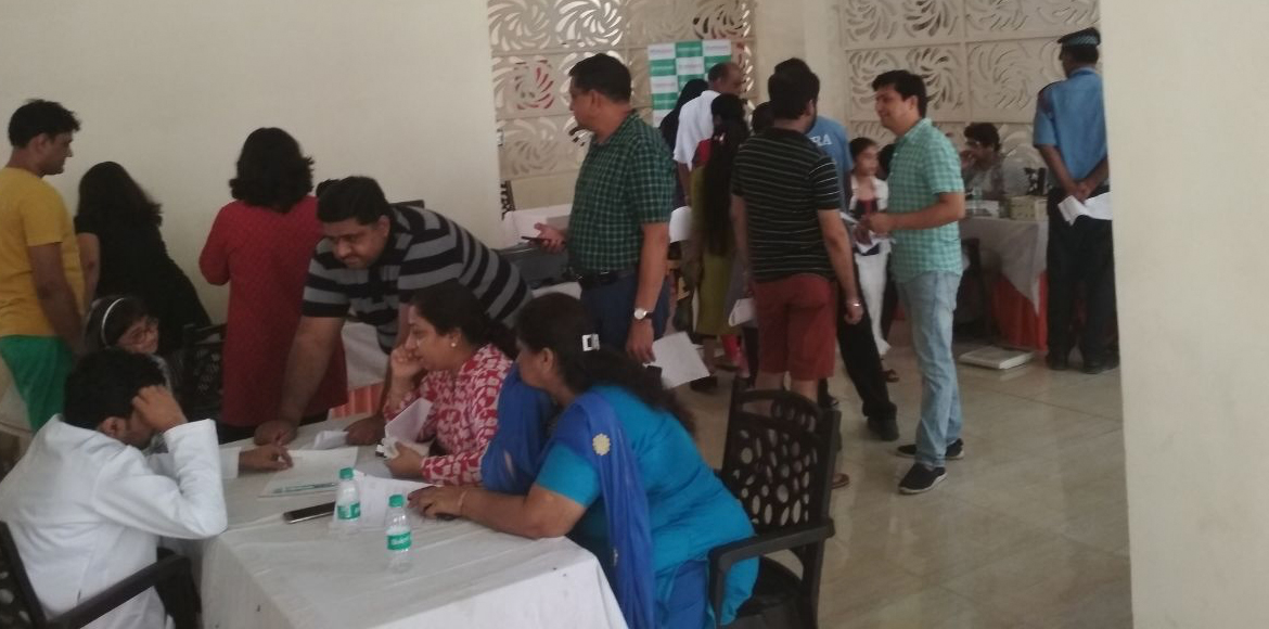 Noida: Gaur Sportswood residents organise medical checkup camp