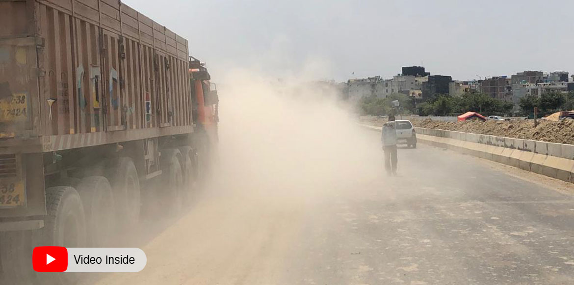 Noida's 7X residents worried over encroachment by truck drivers on main road