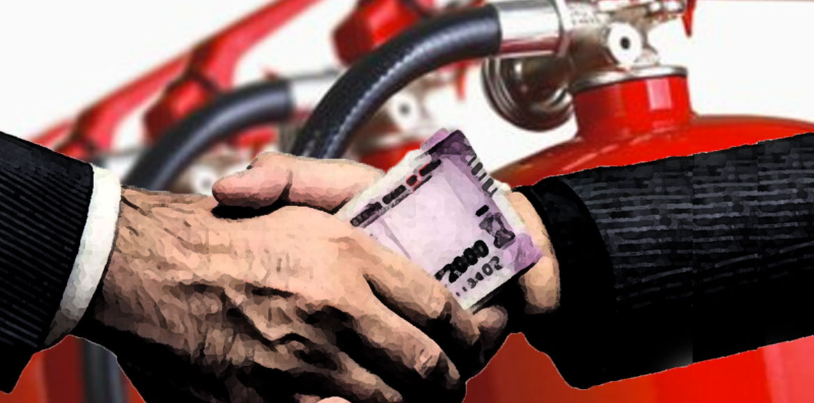 GB Nagar FSO arrested for accepting bribe against Fire NOC
