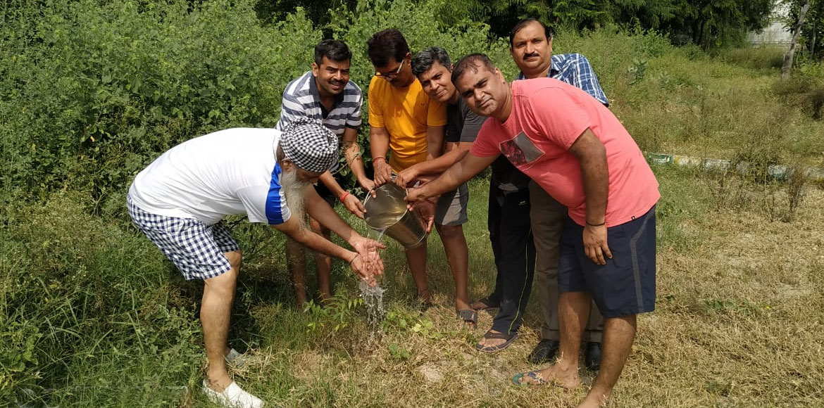 Plantation drive – a step towards pollution