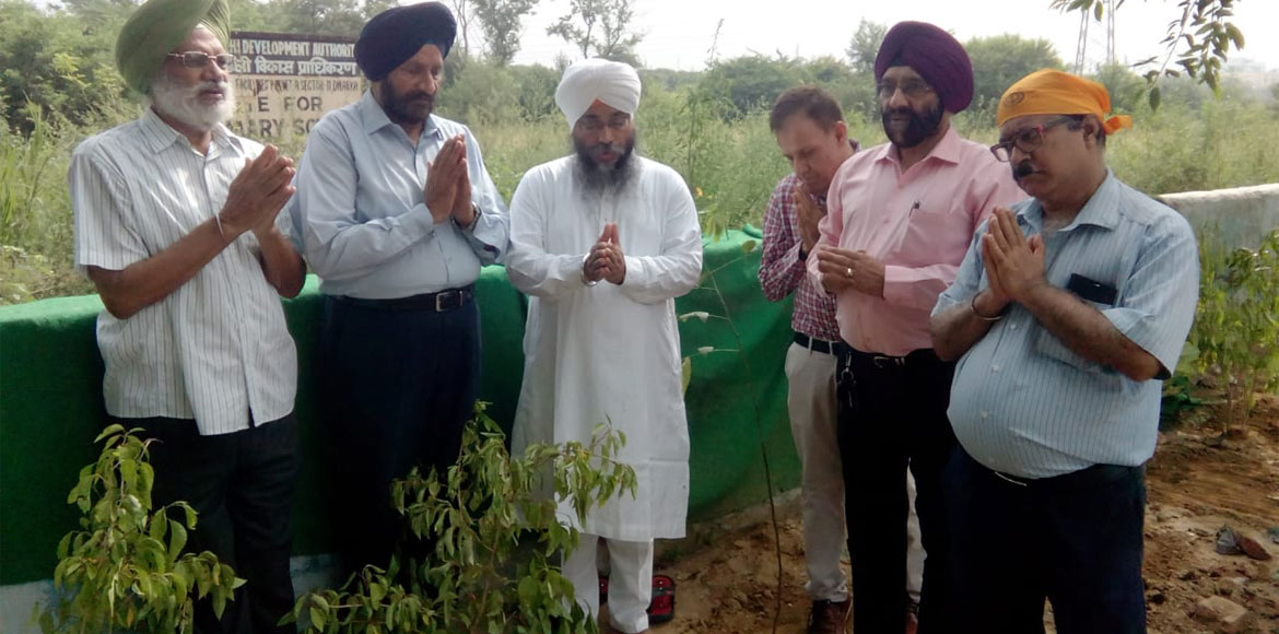 Dwarka: Tree plantation drive organised on occasion of 'Prakash Parav'