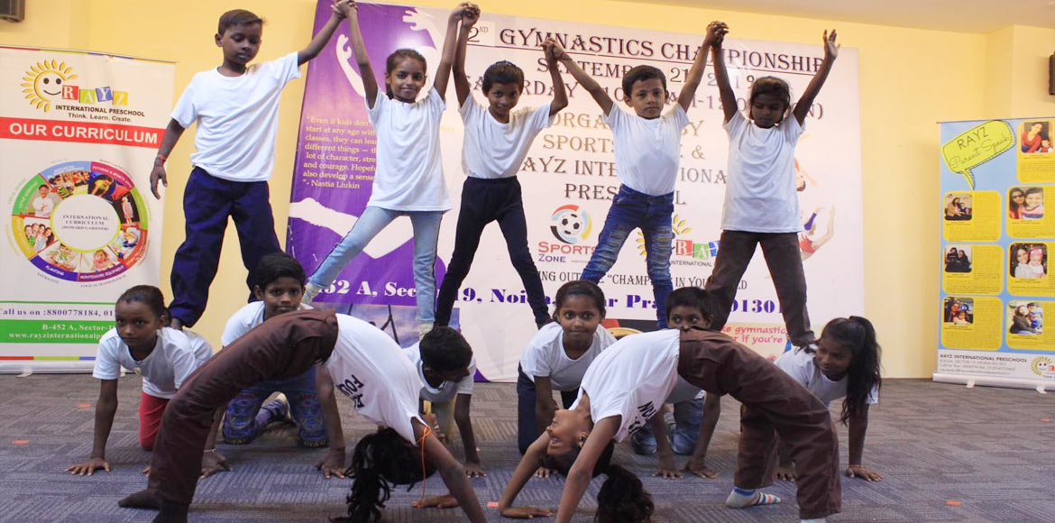 Noida: Gymnastic championship league for kids held at Rayz International