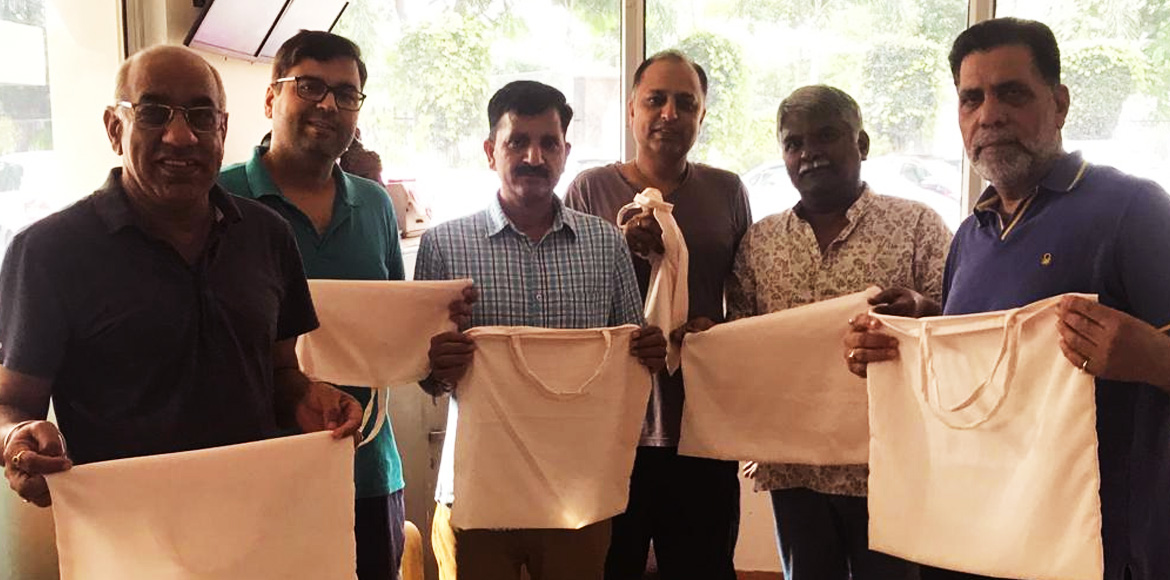 MCG distributes cloth bags in The Citizen Apartments
