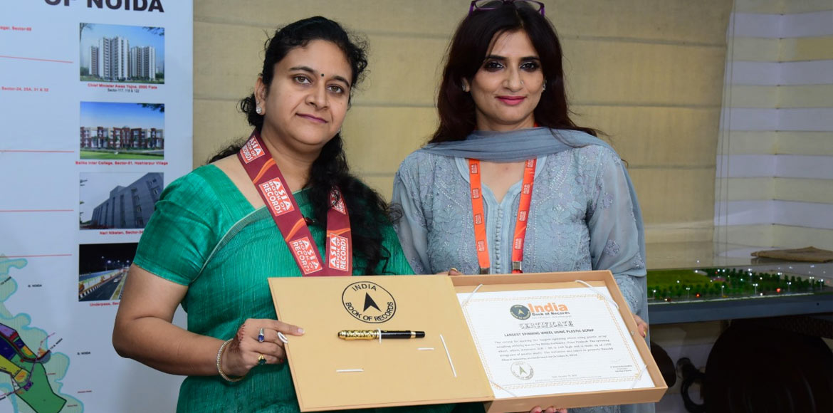 Noida's 'Charkha' makes it to Asia Book of Records