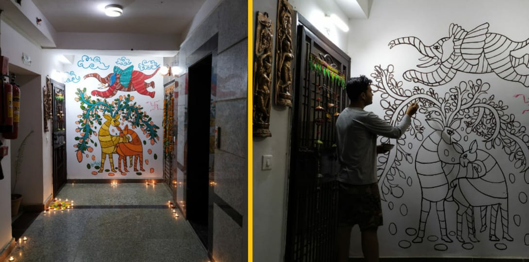 His art on Antriksh Golf View's wall becomes instant hit with residents