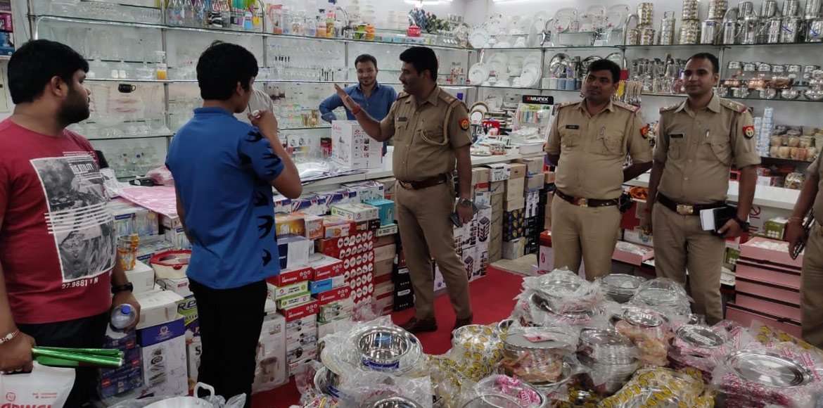 GB Nagar police carries out inspection of markets ahead of Dhanteras